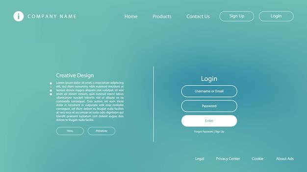 Design moderno astratto con colori pastello ed effetto sfocato per la pagina di destinazione del sito web