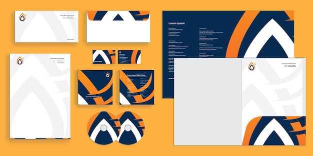 Abstract modern energy company corporate business identity stazionario