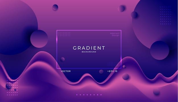 Astratto sfondo viola fluido moderno 3d.