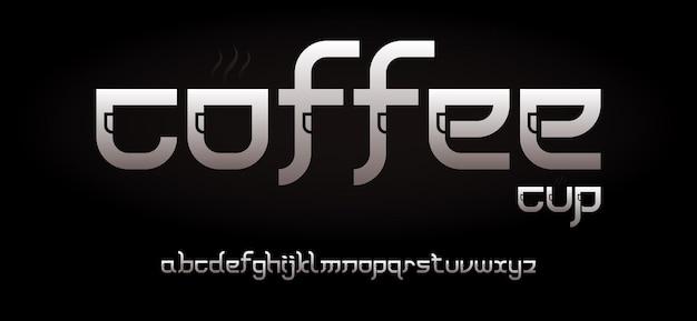 Fonte di alfabeto futuristico moderno astratto. caratteri tipografici in stile urbano per tecnologia, digitale, design del logo del film