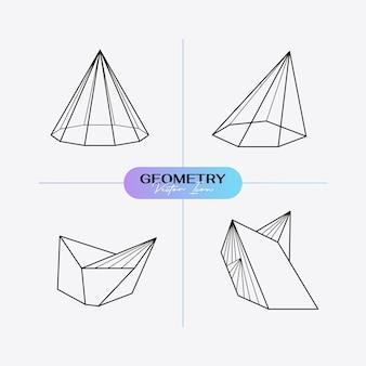 Icona geometrica moderna astratta impostata in stile alla moda.