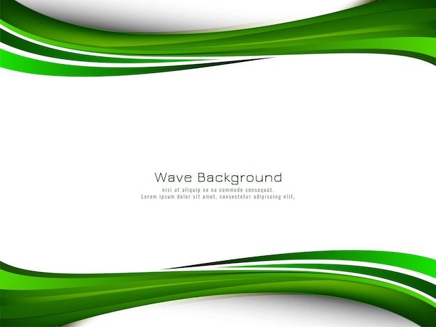 Fondo moderno astratto dell'onda verde green