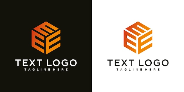 Lettera iniziale moderna astratta e segno modello di design del logo di lusso