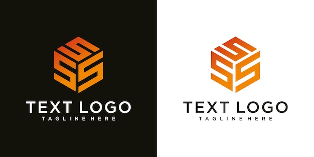 Lettera iniziale moderna astratta s segno modello di progettazione del logo di lusso