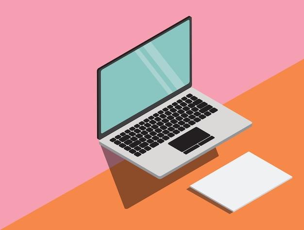 Ambiti di provenienza moderni astratti di progettazione del materiale e del computer portatile