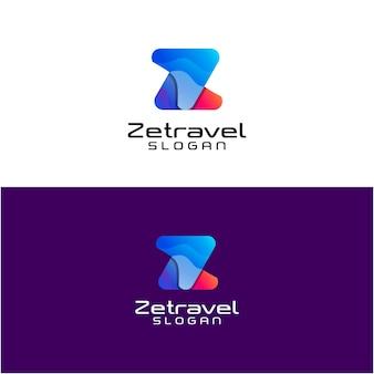 Logo di viaggio astratto moderno lettera z