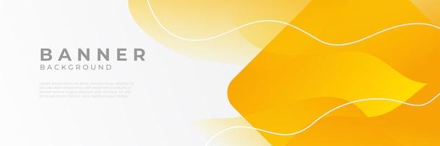 Sfondi di modello di progettazione banner web orizzontale arancione moderno astratto