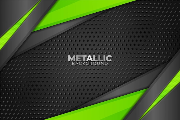 Tecnologia moderna astratta sfondo scuro metallico lucido verde