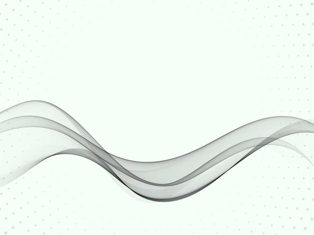 Design moderno astratto certificato grigio trasparente con linee di velocità swoosh. illustrazione