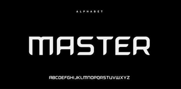 Carattere alfabeto urbano moderno astratto