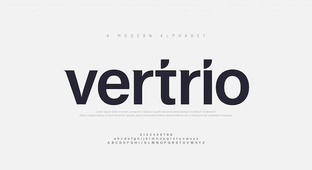 Fonte tipografica di alfabeto urbano moderno astratto
