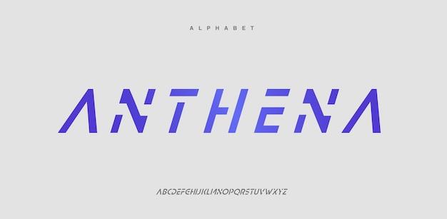 Font alfabeto urbano moderno astratto. logotipo tipografico