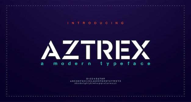 Caratteri di alfabeto urbano moderno astratto.