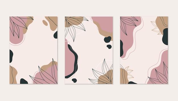 Astratto moderno con linee foglie con spazio per il testo