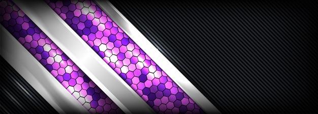 Astratto e moderno con sfondo futuristico viola e scuro