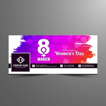 Modello moderno astratto della bandiera di facebook delle donne