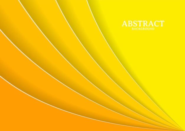 Astratto moderno concetto di sfondo papercut giallo, modello di progettazione di sfondo papercut