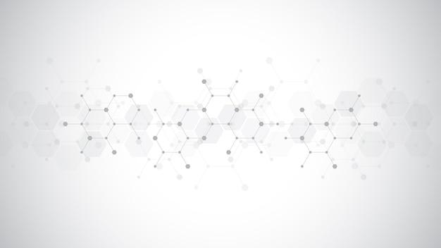 Sfondo di molecole astratte