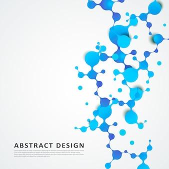 Struttura astratta delle molecole con particelle sferiche connesse.