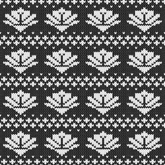 Modello senza cuciture lavorato a maglia monocromatico astratto. campione di trama a maglia per biglietto di capodanno, invito di natale, carta da regalo per le vacanze, viaggi per le vacanze invernali e pubblicità sulle stazioni sciistiche, ecc.