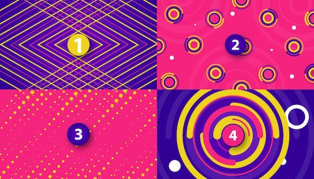 Gli ambiti di provenienza di movimento astratto progettano con le forme variopinte