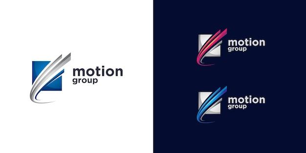 Modello di progettazione del logo del movimento astratto