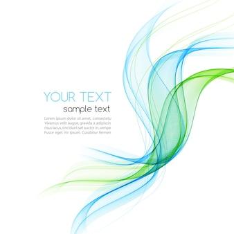 Onda di colore liscio movimento astratto. curva linee verdi e blu