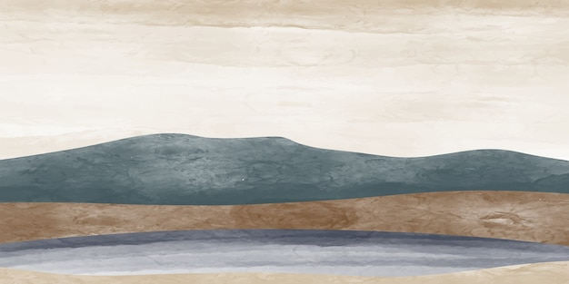 Paesaggio di montagna astratto, sfondo paesaggio naturale, minimalista.