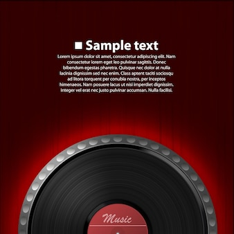 Arte astratta della priorità bassa di musica. disco in vinile. illustrazione vettoriale