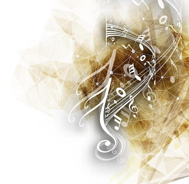 Il disegno astratto delle note di musica per il fondo di musica usa l'illustrazione di vettore