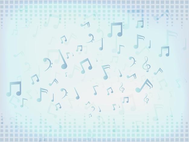 Sfondo di barre audio di musica astratta con note.