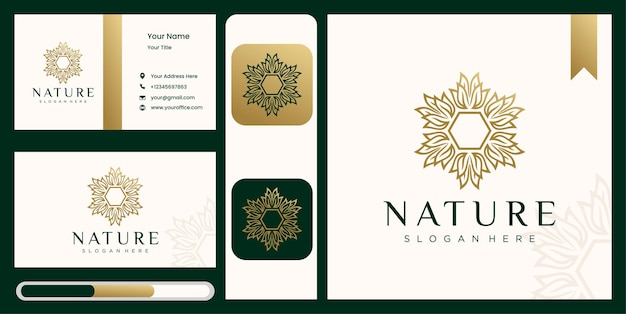 Natura astratta fiore logo design