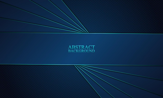 Strisce blu astratte sovrapposte con sfondo blu.
