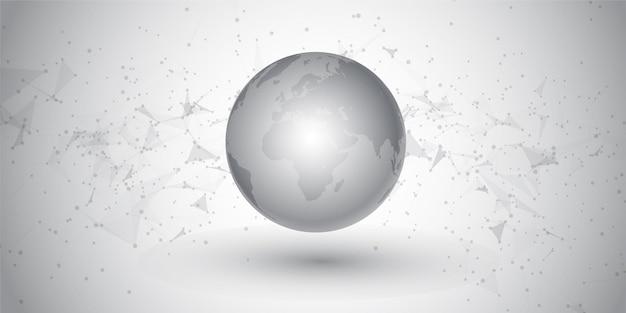 Comunicazioni di rete astratte e design del globo