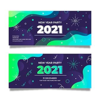 Modello astratto delle bandiere del partito di nuovo anno 2021