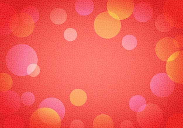Fondo rosso di vettore del nuovo anno astratto in bokeh con i piccoli cerchi, creando noise