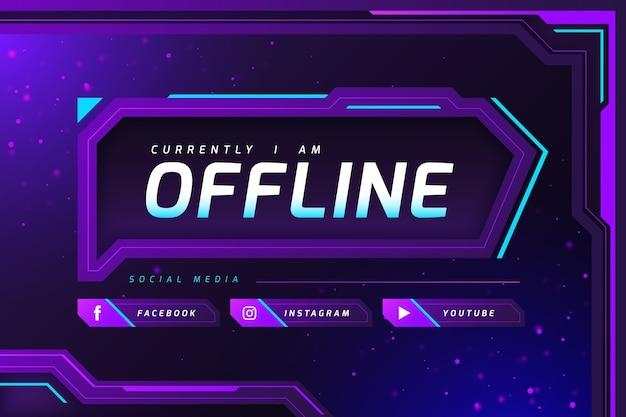 Modello di banner astratto contrazione offline