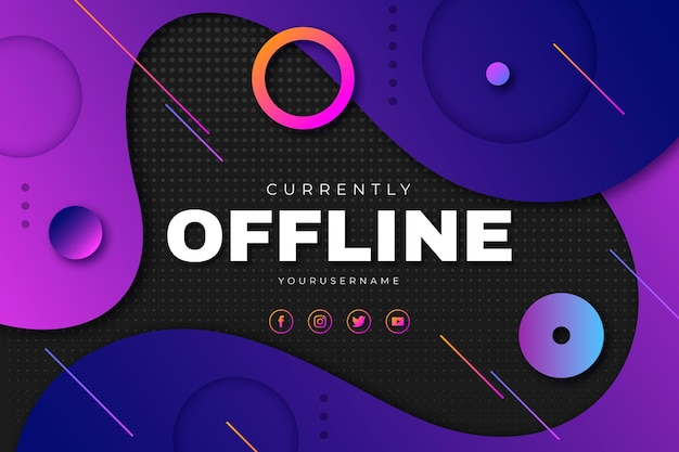 Banner astratto twitch offline