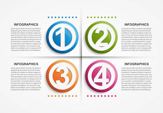 Modello di infographics di opzioni astratte