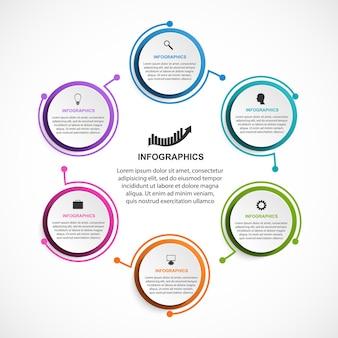 Modello di infographics di opzioni astratte.