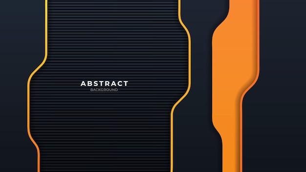 Astratto sfondo arancione e nero con forma moderna