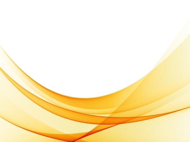 Elemento di disegno astratto dell'onda di colore arancione. colore liscio astratto ondulato