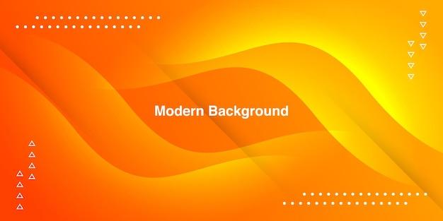 Curva arancione astratta con geometrica su sfondo sfumato