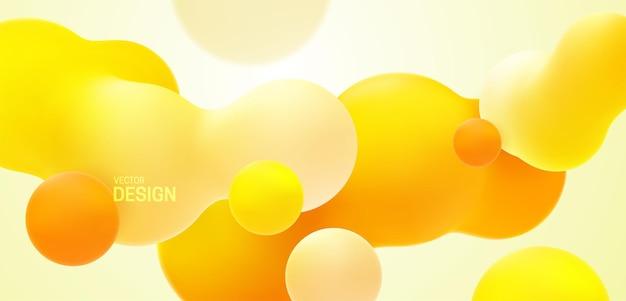 Sfondo sfumato arancione astratto con forme organiche morphing