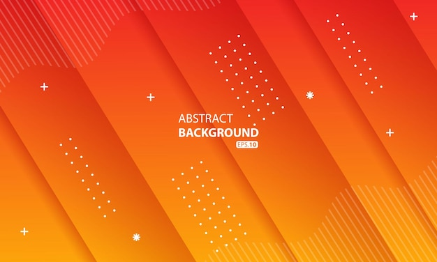 Sfondo di colore liquido arancione astratto. sfondo geometrico ondulato. design dinamico dell'elemento geometrico strutturato05