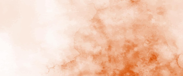 Acquerello arancione astratto dipinto a mano per lo sfondo. macchie vettore artistico utilizzato come elemento nel design decorativo di intestazione, poster, carta, copertina o banner. pennello incluso nel file.