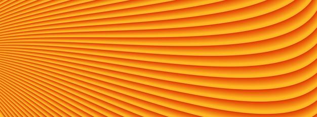 Linee di onde arancio astratte fondo del modello