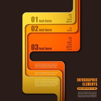 Infografica carta astratta