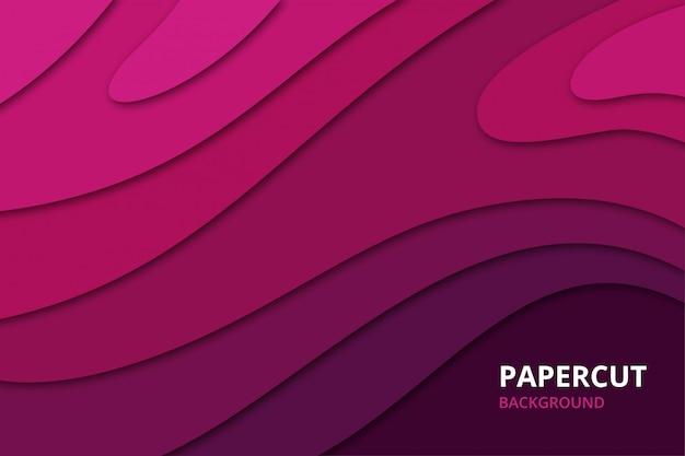 Sfondo astratto papercut in colore rosa viola