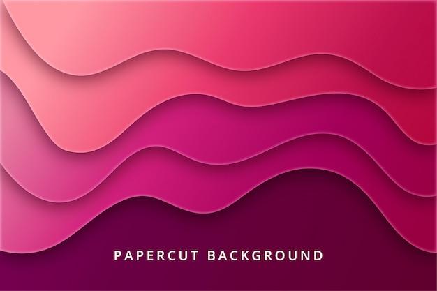 Sfondo astratto papercut. design texture in vibrante colore rosso rosa viola